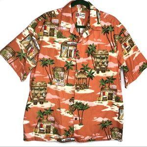 Hilo Hattie | Men's Hawaiian Print Button Up Shirt